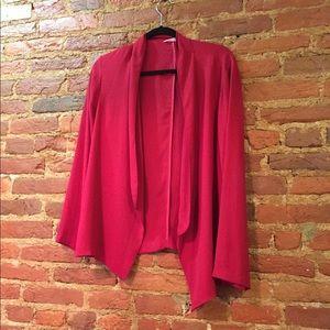 Lush lightweight red blazer